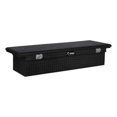 72 in. Aluminum Black Single Lid Crossover Tool Box with Low Profile
