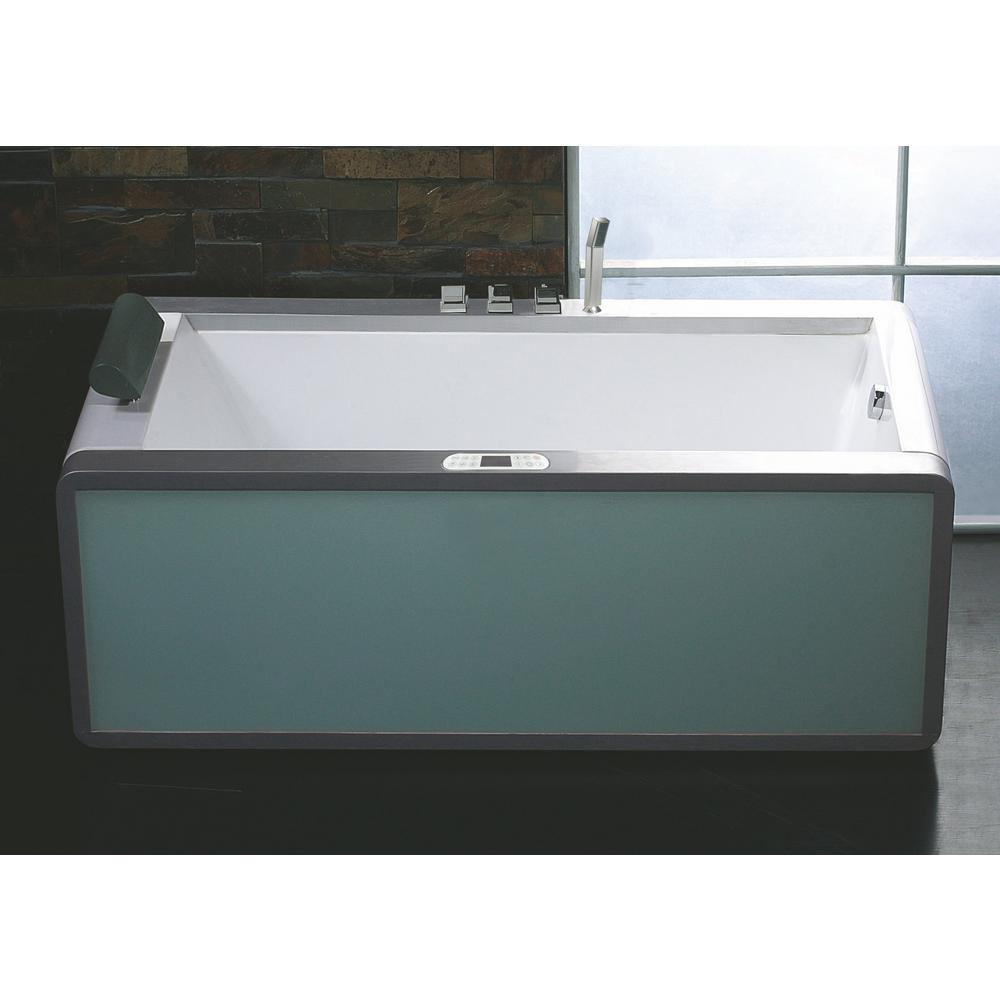 Eago AM151ETL-R 71 in. Acrylic Flatbottom Whirlpool Batht...