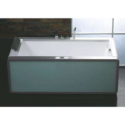AM151ETL-R 71 in. Acrylic Flatbottom Whirlpool Bathtub in White