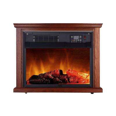 1500-Watt Large Room Infrared Freestanding Fireplace with Remote