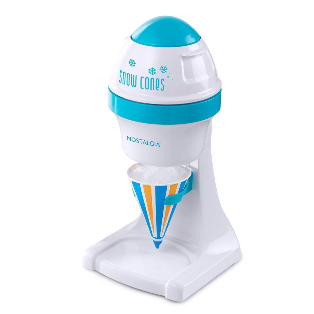 8 oz. Blue and White Countertop Snow Cone Machine