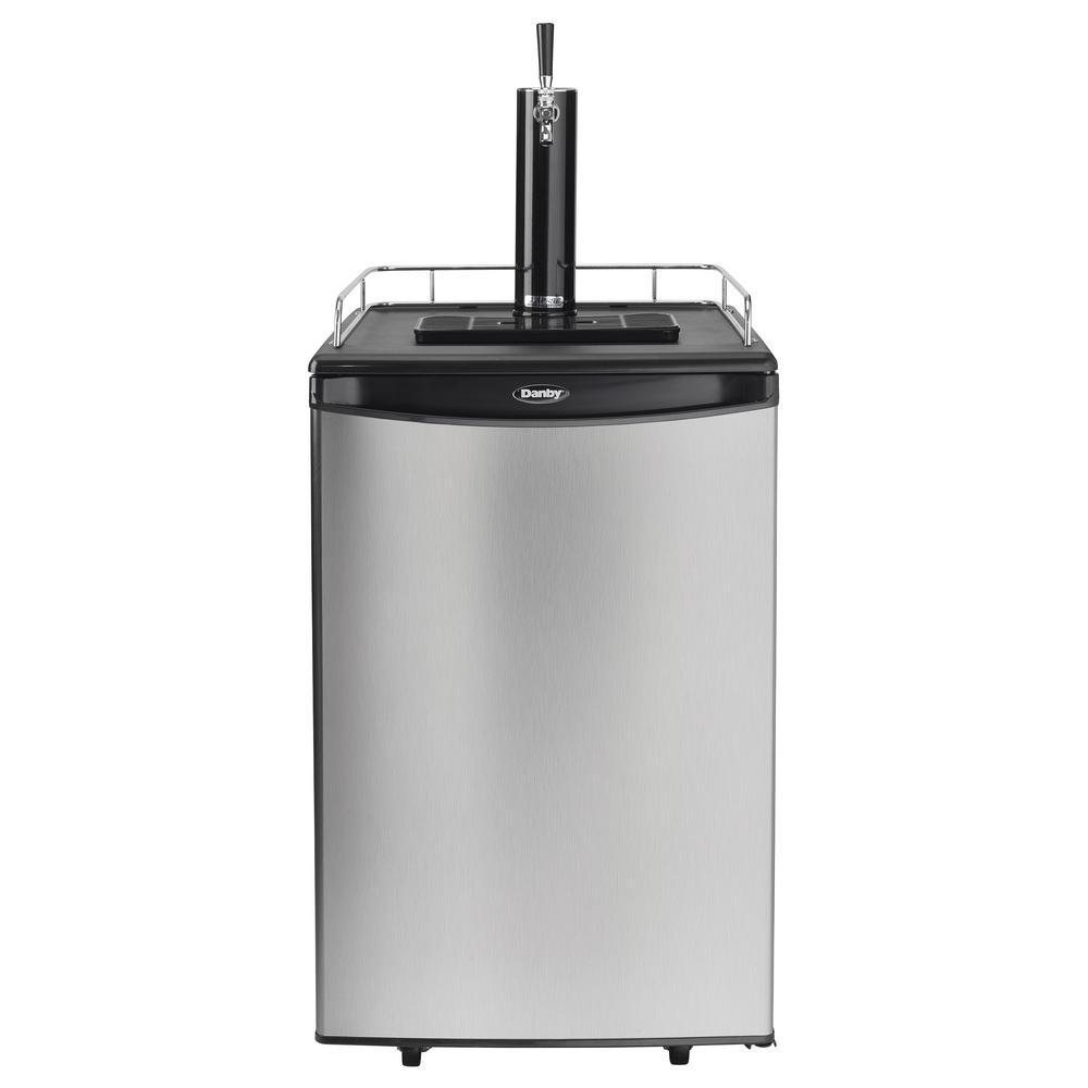 5.4 cu. ft. Beer kegerator Dispenser with Single Tap