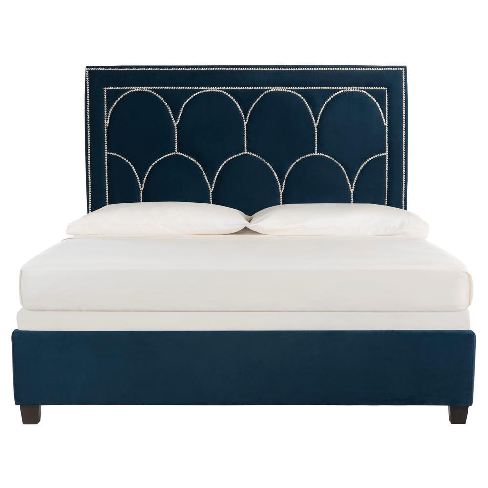 Solania Navy Queen Bed