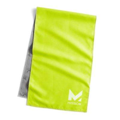 Hydro Active 12 in. x 33 in. High Vis Green Microfiber Large Unisex Cooling Towel