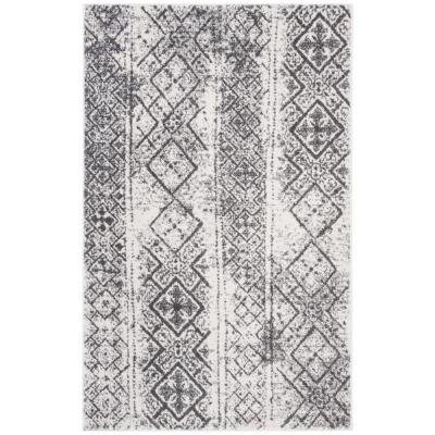 Adirondack Silver/Black 5 ft. x 8 ft. Area Rug