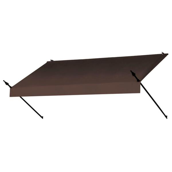 8 ft. Designer Manually Retractable Awning (36.5 in. Projection) in Cocoa