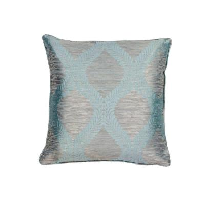 Fresh & Cool Blue and Grey Geometric Hypoallergenic Polyester 18 in. x 18 in. Throw Pillow