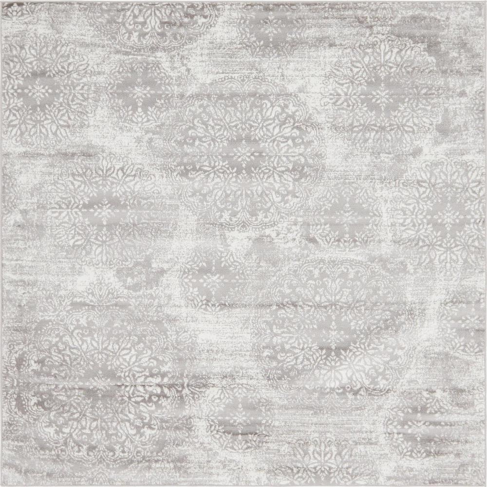 Sofia Grand Light Gray 8' 0 x 8' 0 Square Rug