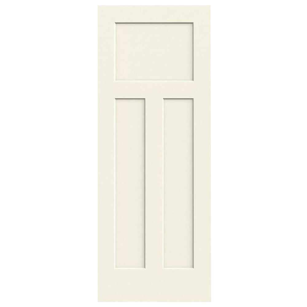 30 in. x 80 in. Craftsman Vanilla Painted Smooth Molded Composite