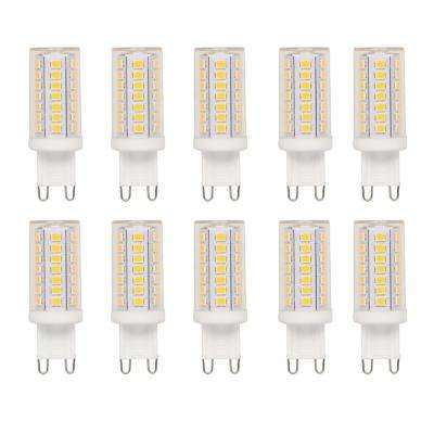 40-Watt Equivalent G9 Dimmable LED Light Bulb Bright White (10-Pack)