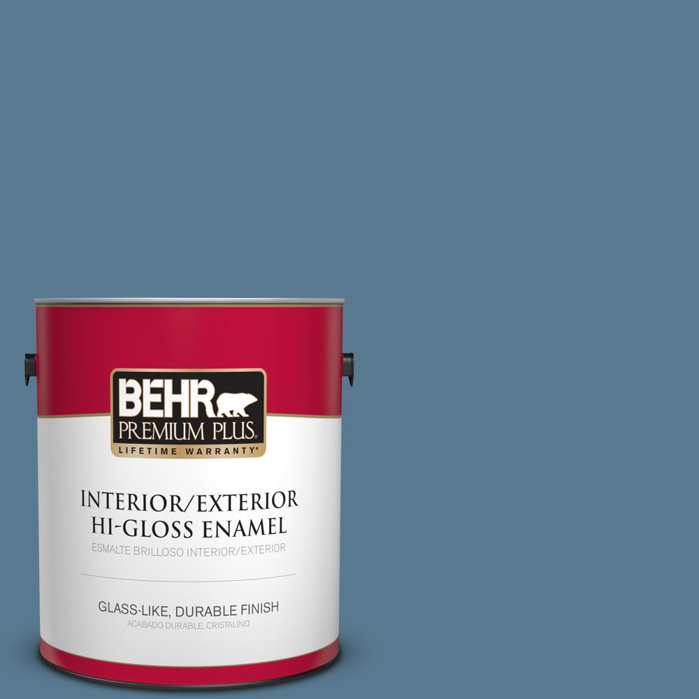 1 gal. #PPU14-03 Cayman Bay Hi-Gloss Enamel Interior/Exterior Paint