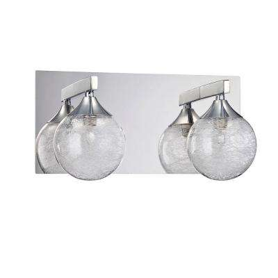 FYBRA Series 2-Light Chrome Bath Light