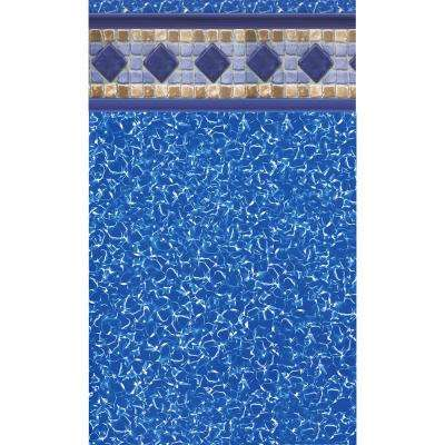 Sarasota Tile 12 ft. x 24 ft. Oval Unibead Pool Liner 52 in. Deep