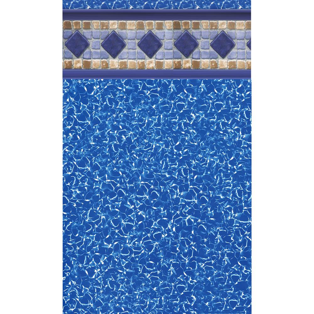 Swimline Sarasota Tile 18 ft. x 33 ft. Oval Unibead Pool ...