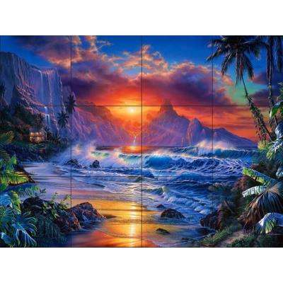 Escape 17 in. x 12-3/4 in. Ceramic Mural Wall Tile