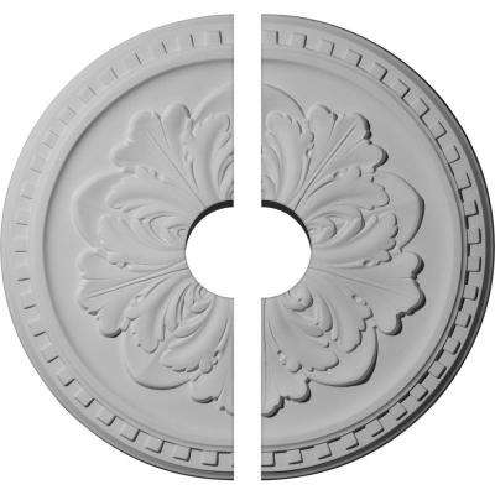 16-7/8 in. O.D. x 3-1/2 in. I.D. x 5/8 in. P Emery Ceiling Medallion (2-Piece)