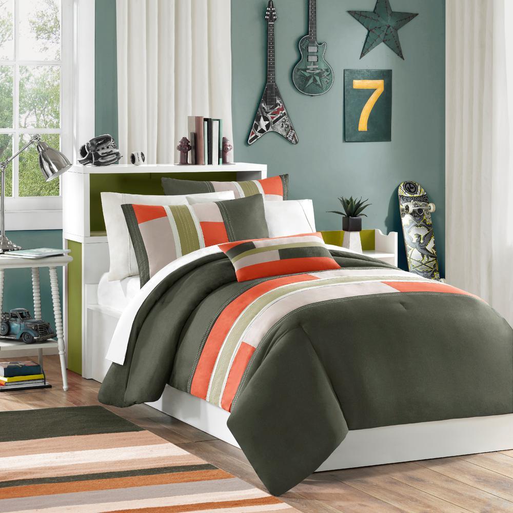 Switch 4-Piece Olive Full/Queen Comforter Set