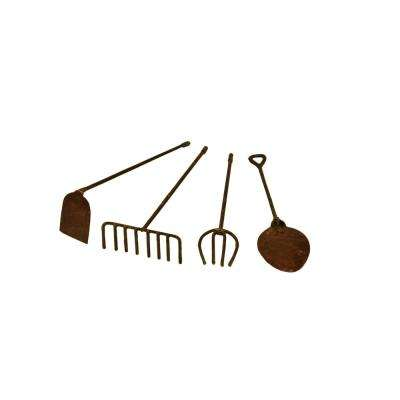 MiniGardenn 10024 Fairy Garden Miniature Tools in Rustic (Set of 4)