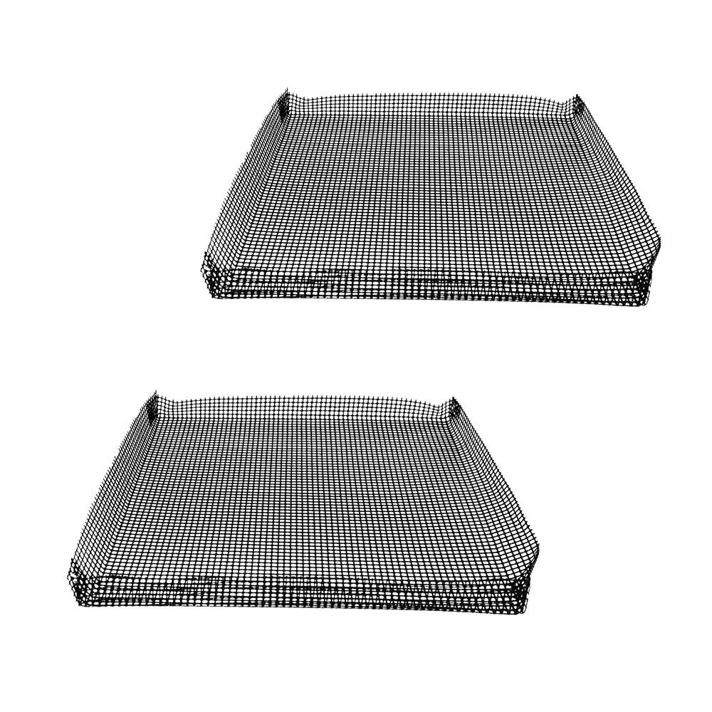 GoWISE Oven Mesh Baskets, Black GoWISE USA Reusable Oven Mesh Baskets minimize the cleaning process of your appliances. They are ideal baking in ovens. Simply place food in the baskets when cooking in an oven to minimize the cleaning process. Color: Black.