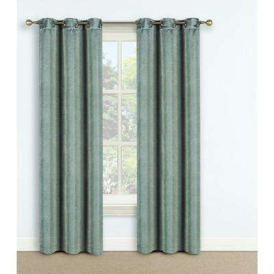 Domino 42 in. W x 63 in. L Window Panel in Iceberg Green