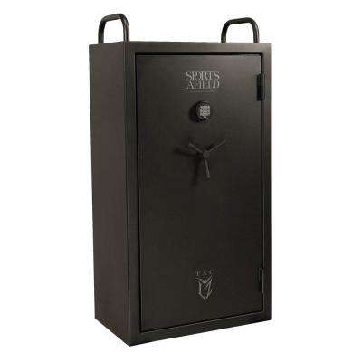 Tac LZ Series 6 Gun Fire/Waterproof Elock Gun Safe, Black Matte