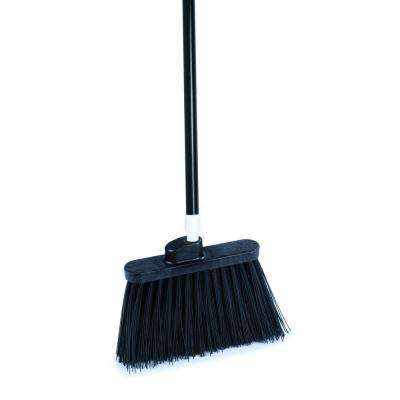 Sparta Spectrum 56 in. Duo-Sweep Angle Broom with Un-Flagged Bristle in Black (Case of 12)