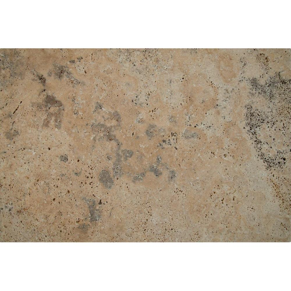 Porcini 16 in. x 24 in. Tumbled Travertine Paver Tile (15