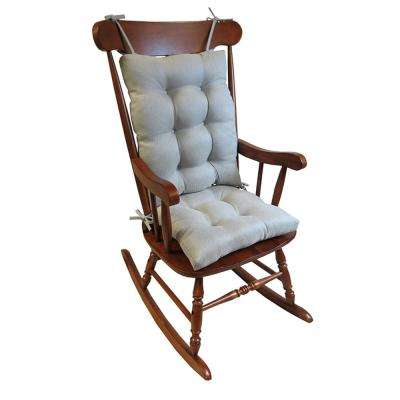 Gripper Omega Gray Jumbo Rocking Chair Cushion Set