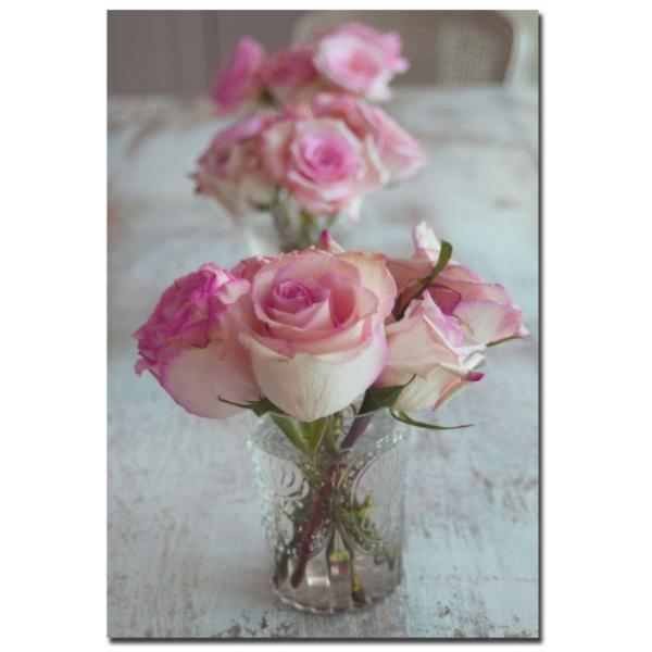 Trademark Fine Art 22 in. x 32 in. Shabby Roses Canvas