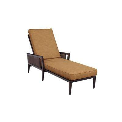 Greystone Patio Chaise Lounge with Toffee Cushions -- CUSTOM