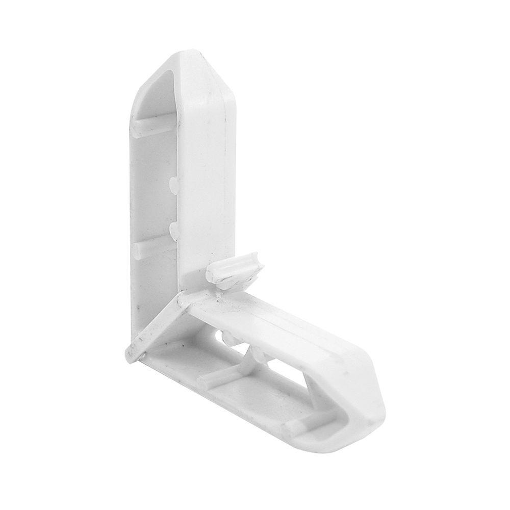 3/4 in. x 7/16 in. White Plastic Pella Screen Frame Corner