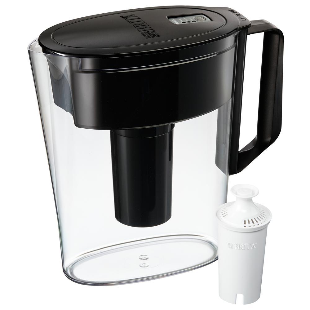 Brita SOHO 5-Cup Water Filter Pitcher in Black, BPA Free