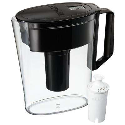 SOHO 5-Cup Water Filter Pitcher in Black, BPA Free