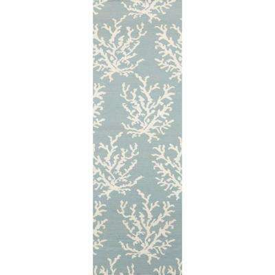 Somerset Bay Powder Blue 2 ft. 6 in. x 8 ft. Flatweave Rug Runner