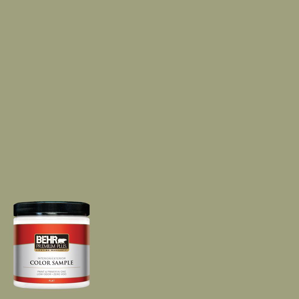 BEHR Premium Plus 8 oz. #BIC-57 French Parsley Interior/Exterior Paint Sample
