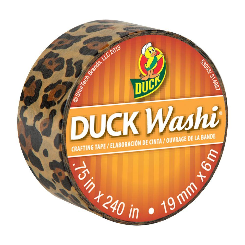 Duck 0.75 in. x 6.6 yds. Wild Leopard Washi Crafting Tape