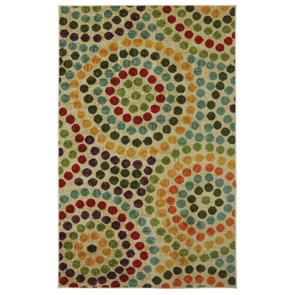 Mohawk Home Mosaic Stones Multi 8 ft. x 10 ft. Area Rug