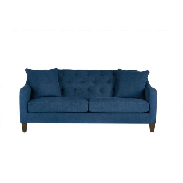 Aldergrove Powerball Midnight Gray Straight Standard Sofa with Tufting (79.5 in. W x 34.5 in. H)