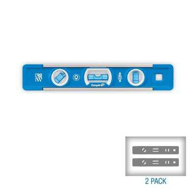 9 in. True Blue Professional Magnetic Torpedo Level (2-Pack)