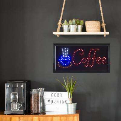 Neon LED Coffee Sign with Animation