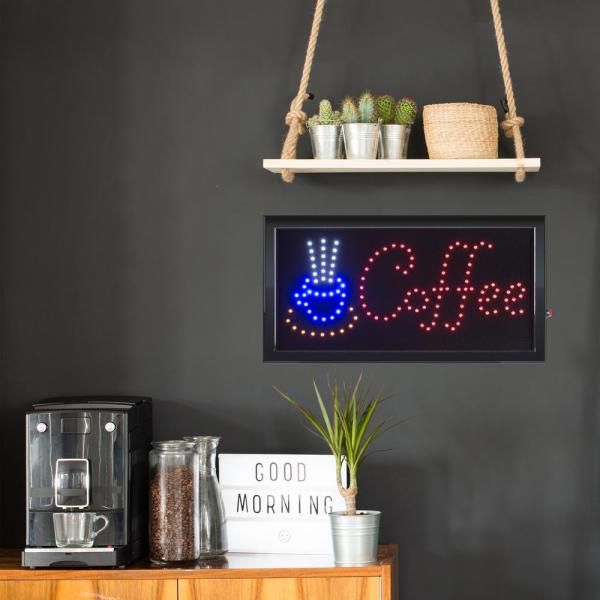 Lavish Home Neon LED Coffee Sign with Animation HW1000012