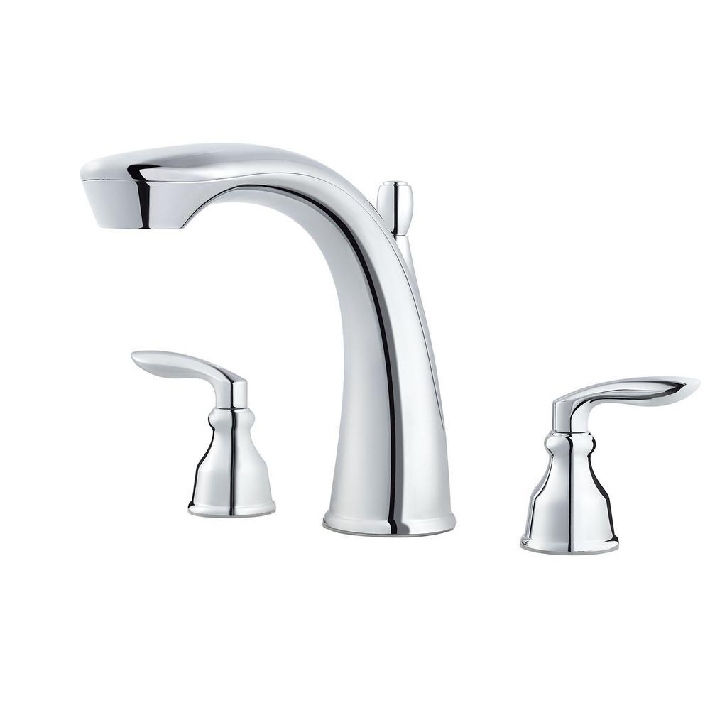 Pfister Avalon 2-Handle Deck-Mount Roman Tub Faucet Trim Kit in ...