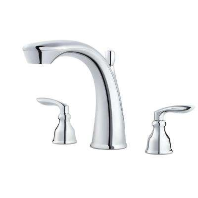 Avalon 2-Handle Deck-Mount Roman Tub Faucet Trim Kit in Polished Chrome (Valve Not Included)