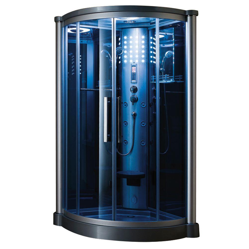 Ariel 40 inch x 40 inch x 85 inch Steam Shower Enclosure Kit in Blue by Ariel