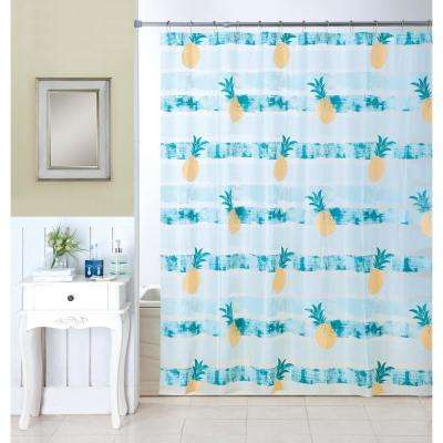 Be A Pineapple 16-Piece Ceramic Accessories and Shower Curtain Set