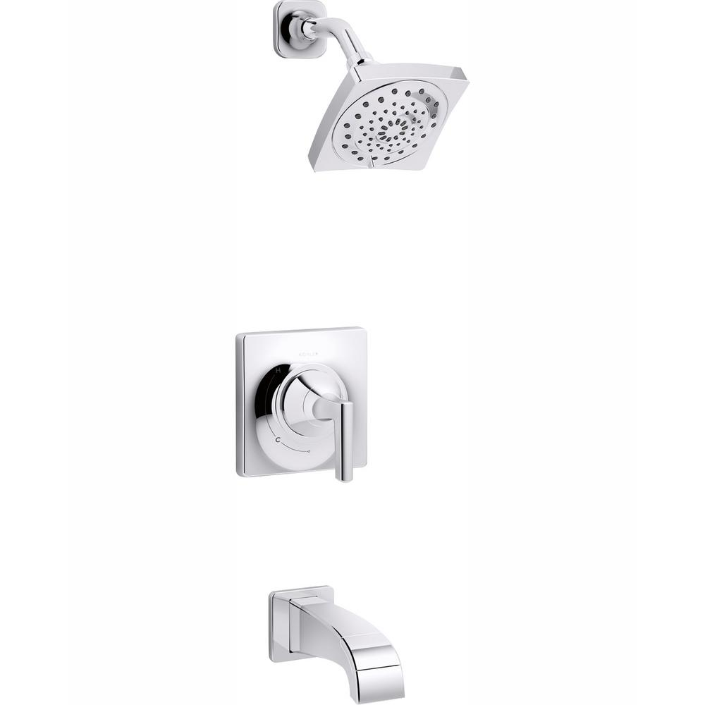 KOHLER Katun 1-Handle 3-Spray Tub and Shower Faucet in Polished Chrome (Valve Included)