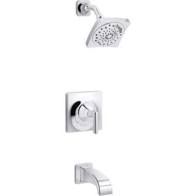 Katun 1-Handle 3-Spray Tub and Shower Faucet in Polished Chrome (Valve Included)