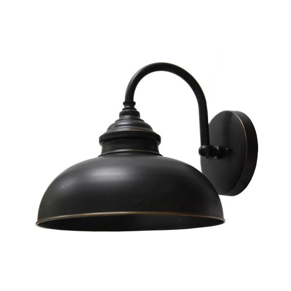 Unbranded 1 Light Oil Rubbed Bronze Outdoor Wall Mount Barn Light Sconce El2935liorb The Home Depot