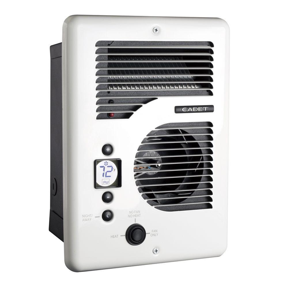Cadet EnergyPlus 1600-Watt 120/240-Volt In-Wall Electric Wall Heater in White