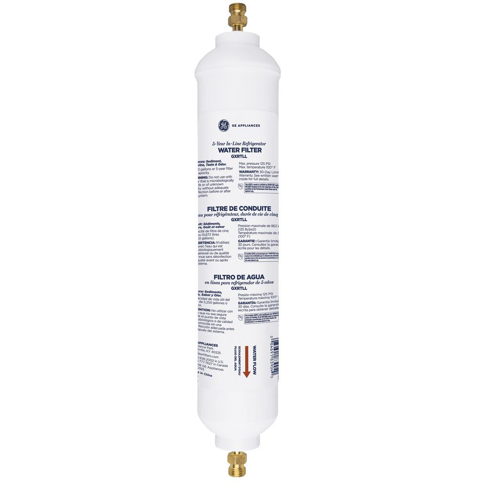Ge Appliance Warranty >> Ge Universal Long Life Refrigerator Water Filter Gxrtll The Home Depot
